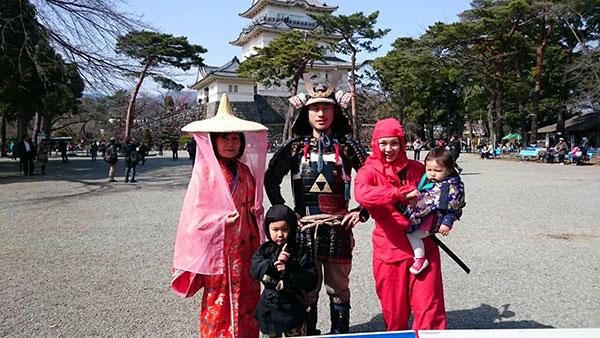 小田原城でコスプレしちゃいました