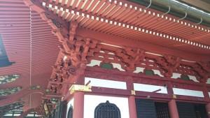 身延山久遠寺の本堂のきらびやかな装飾
