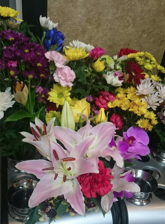 正覚寺の安住廟のお花